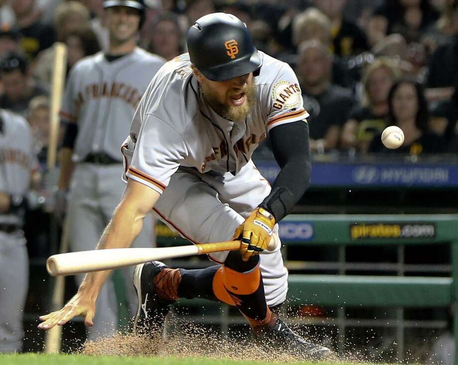 Outfielder Hunter Pence is one of many Giants who have underperformed this season. Photo: Keith Srakocic / Keith Srakocic / Associated Press / Copyright 2017 The Associated Press. All rights reserved.