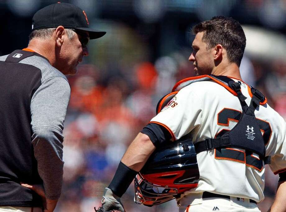 One of the few bright spots for manager Bruce Bochy has been the play of catcher Buster Posey. Photo: Jason O. Watson / Jason O. Watson / Getty Images / 2017 Getty Images