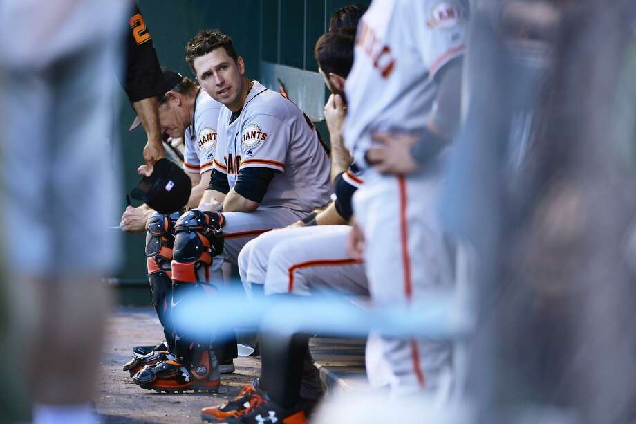 Buster Posey could be one of the few Giants who are not on the trading block as the team looks to rebuild for the future. Photo: Corey Perrine / Corey Perrine / Getty Images / 2017 Corey Perrine