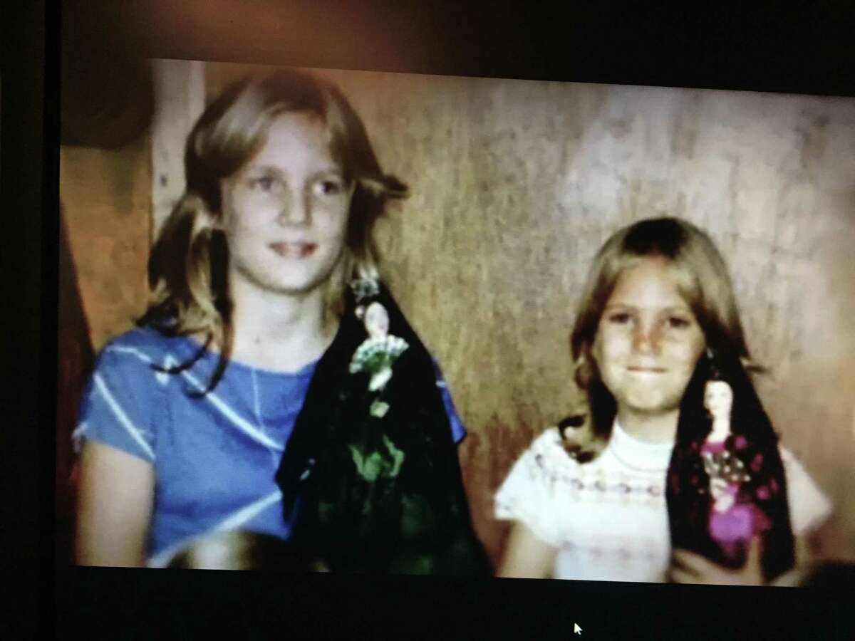 San Antonio's Carrie Stiles and her beloved younger sister Mary before her Halloween night murder in Baytown.