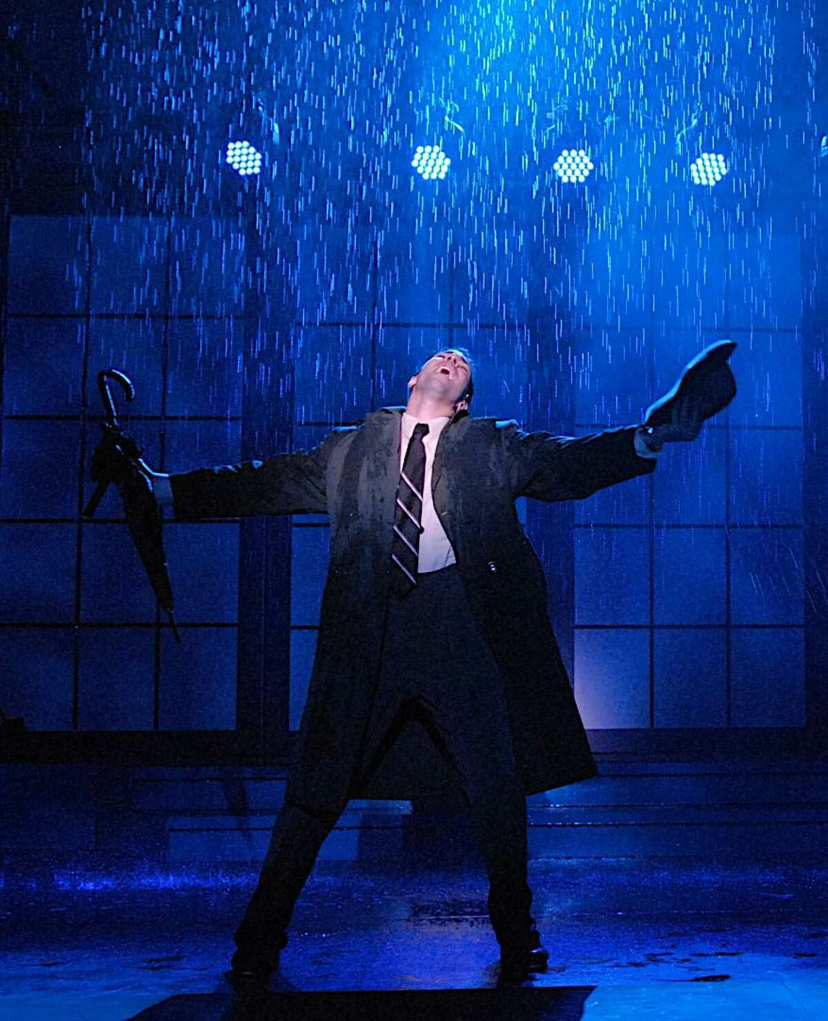 A shot from Singin' in the Rain, the Summer Theatre of New Canaan's summer musical.