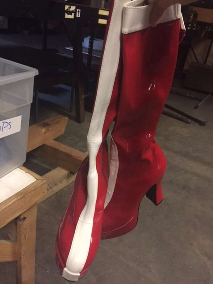 Wonder Woman fetish boots are among the items porn site Kink.com is selling at a prop sale at the San Francisco Armory, July 15 and 16, 2017. Photo: Jessi Reid / Kink.com