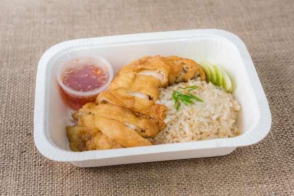 Food at Chick N Rice in Berkeley.