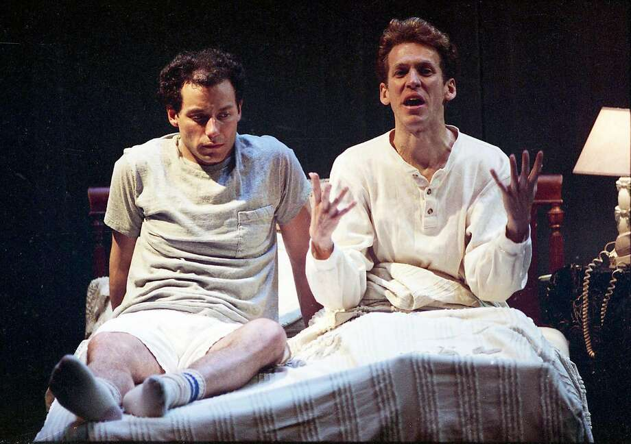 """May 23, 1991: A scene from the opening of """"Angels in America,"""" when the first part of Tony Kushner's play premiered at the Eureka Theatre in San Francisco. Photo: Steve Ringman / The Chronicle 1991"""