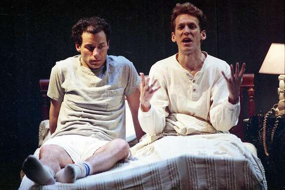 "May 23, 1991: A scene from the opening of ""Angels in America,"" when the first part of Tony Kushner's play premiered at the Eureka Theatre in San Francisco."