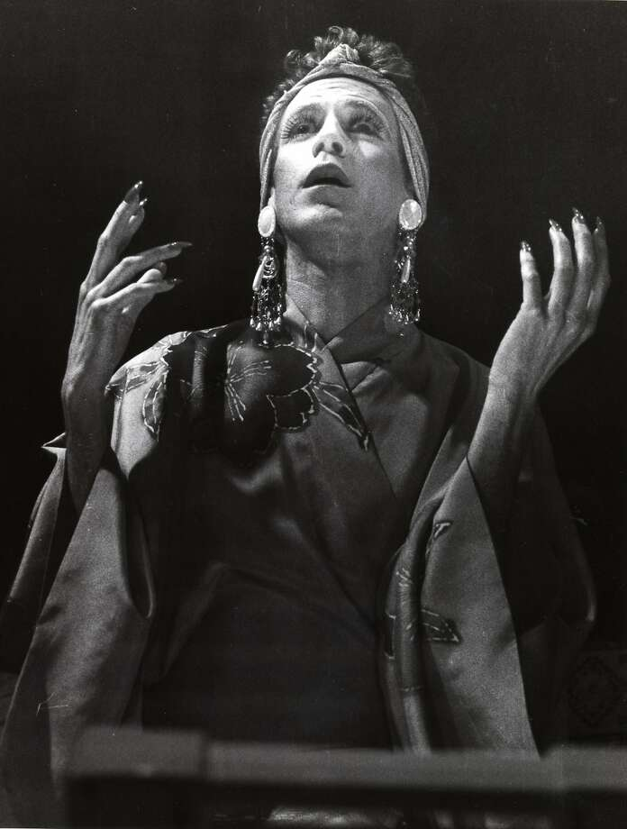 Prior Walter (Stephen Spinella) is ready for his close-up in the world premiere of Angels in America, Eureka Theatre Company, San Francisco, 1991. Photo: Katy Raddatz, Museum Of Performance & Design