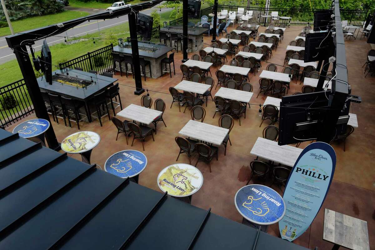 A view of the outside patio at the Philly Bar and Lounge on Monday, June 26, 2017, in Latham, N.Y. (Paul Buckowski / Times Union)
