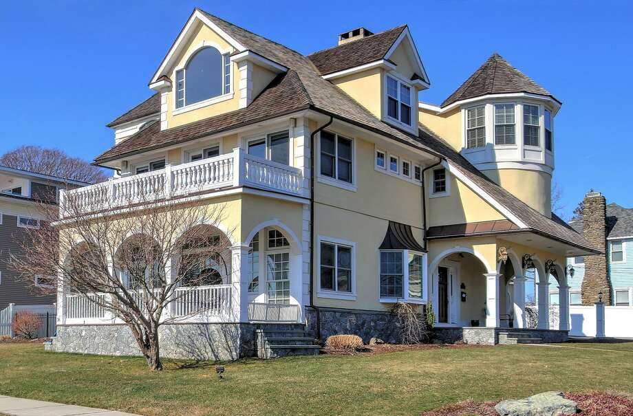 Today, the house at 36 Hawley Ave., in Milford is a 5,757-square foot single family home with five bedrooms, four and a half bathrooms and a beautiful view of Long Island Sound. But, more than a century ago, it had another life at the Bonsilene Hotel, one of a cluster of hotels in Milford's Woodmont area, that was a buzz of social activity in the region. Photo: Phillip Kohan/Contributed Photo / Contributed Photo / Connecticut Post Contributed