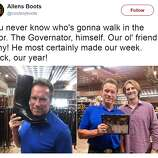Arnold Schwarzenegger Makes A Stop Into Austin S Allens