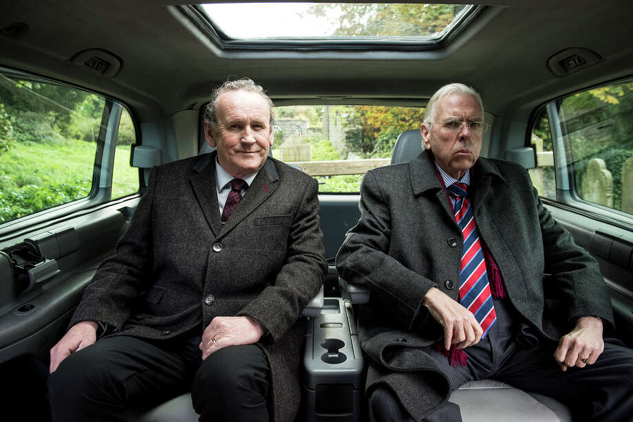 """Colm Meaney, left, and Timothy Spall star in """"The Journey."""" / © Steffan Hill 2015"""