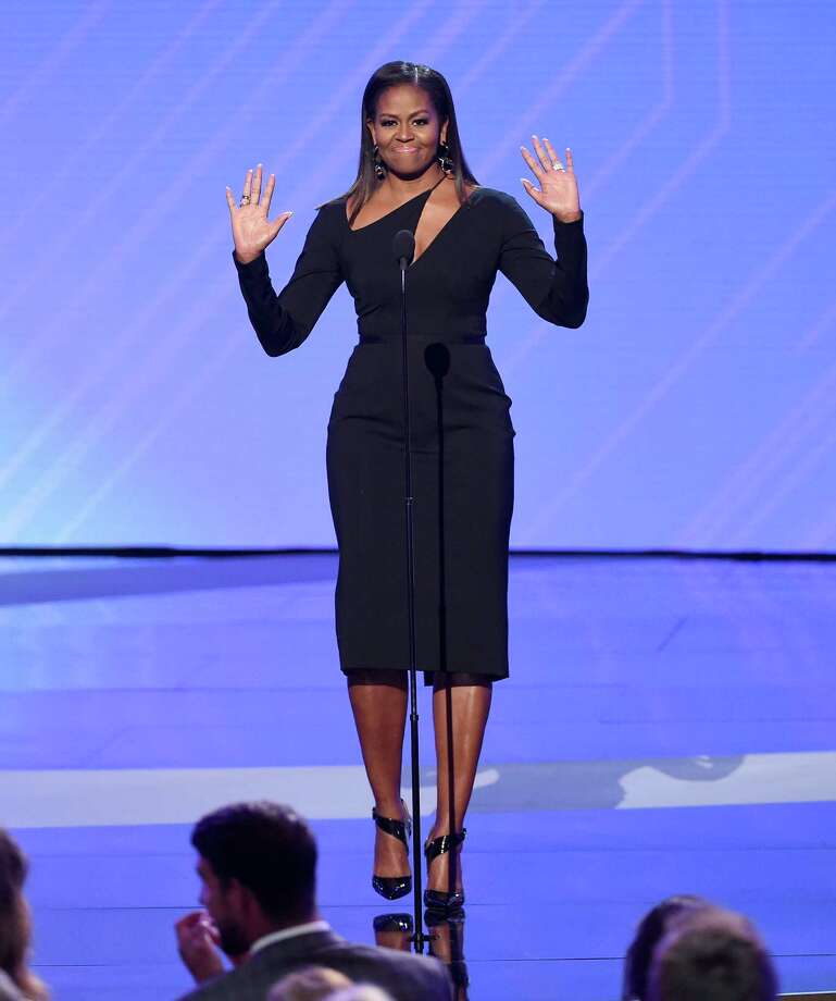 LOS ANGELES, CA - JULY 12:  Former First Lady Michelle Obama speaks onstage at The 2017 ESPYS at Microsoft Theater on July 12, 2017 in Los Angeles, California. Photo: Kevin Winter, Getty Images / 2017 Getty Images