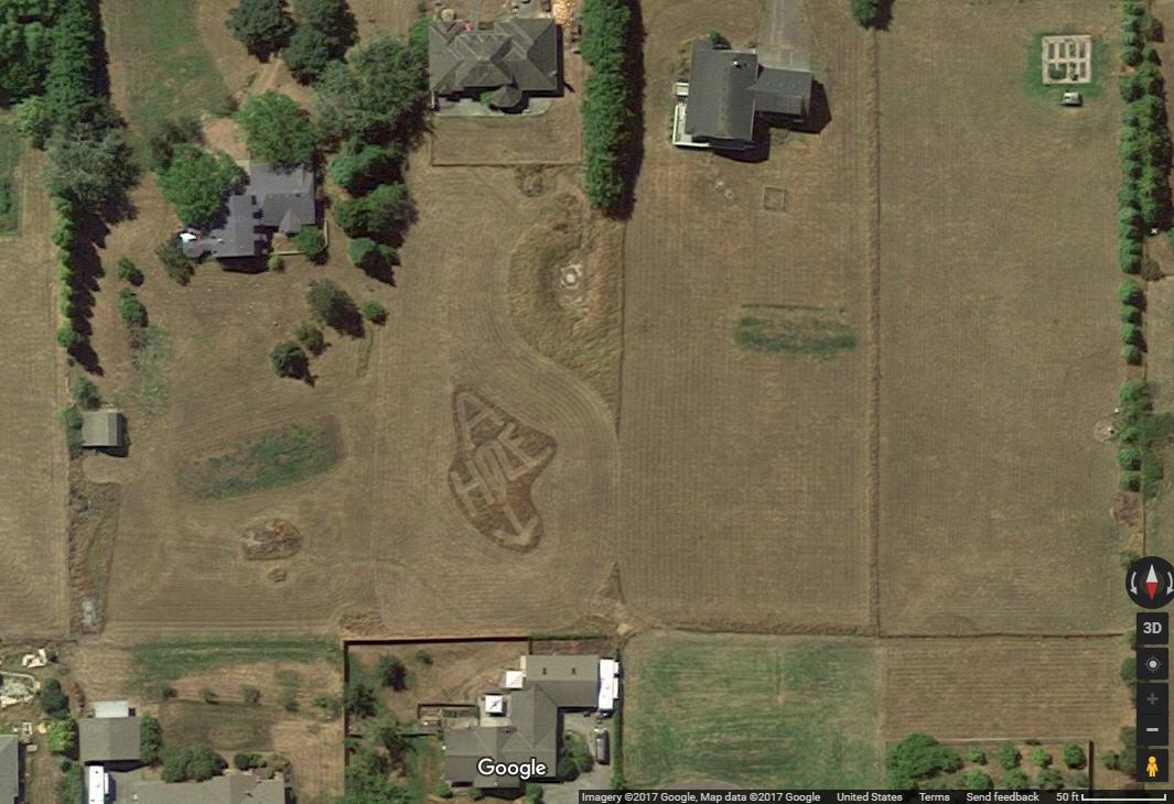 Google Maps reveals hilarious \'A-HOLE\' message mowed into a ...
