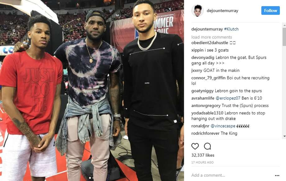 Dejounte Murray had the chance to hang out with Cleveland Cavalier Lebron James and Ben Simmons, from the Philadelphia 76ers, during the Las Vegas Summer League.