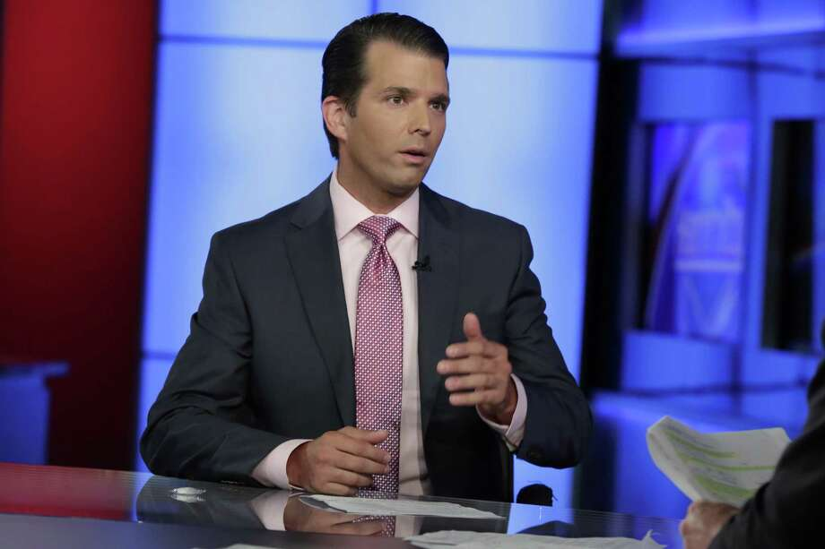 Donald Trump Jr. is interviewed by host Sean Hannity on his Fox News Channel television program, in New York Tuesday, July 11, 2017. Photo: Richard Drew / Associated Press / AP