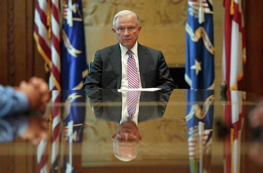 The Justice Department, under Attorney General Jeff Sessions, is withdrawing from its role in protecting the civil rights of Texans when it comes to voter ID. This cheapens everyone's rights. Photo: Win McNamee /Getty Images / 2017 Getty Images