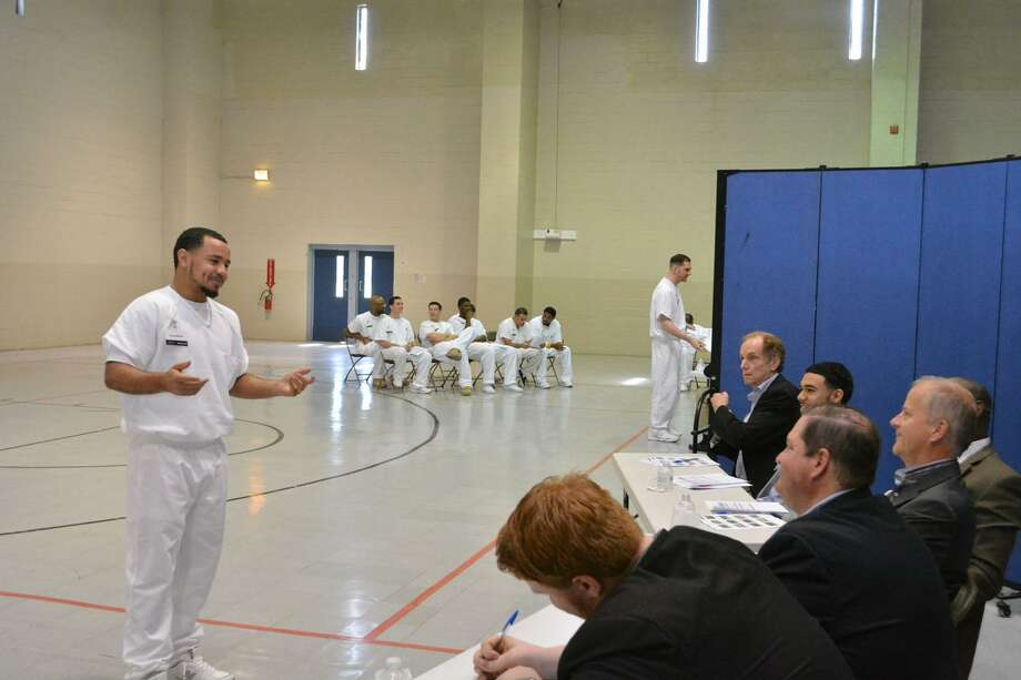 A prisoner enrolled in the Prison Entrepreneurship Program makes a pitch to a panel of judges in preparation for a business plan competition at the Cleveland Correctional Center in Cleveland, Texas. The bias against hiring former prison inmates hurts all of society. Photo: Handout /Prison Entrepreneurship Program