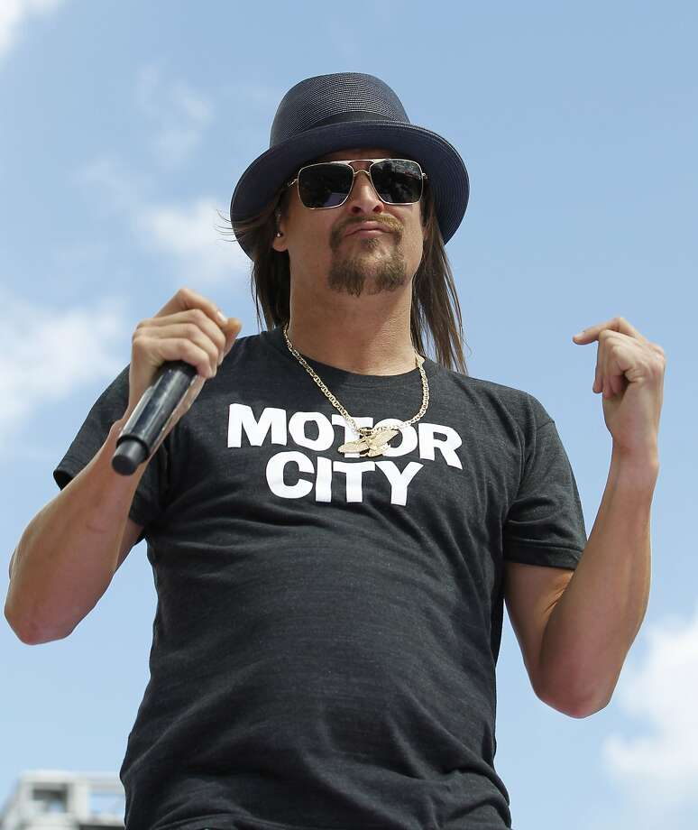 Kid Rock is one of several celebrities threatening to follow Donald Trump into public office. Photo: Terry Renna, Associated Press
