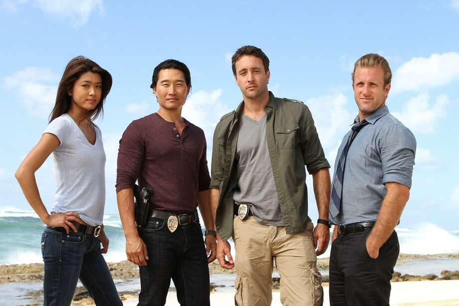 "Actors Grace Park and Daniel Dae Kim (left and second to the left) recently left the cast of ""Hawaii Five-O"" because CBS refused to pay them as much as their white co-stars, Alex Loughlin and Scott Caan. Photo: MARIO PEREZ /CBS / ©2011 CBS BROADCASTING INC. All Rights Reserved"