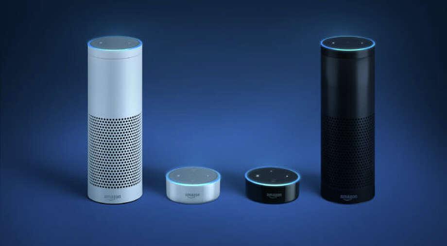 Amazon's Alexa-powered Echo and Echo Dot speakers were big sellers. Photo: Amazon
