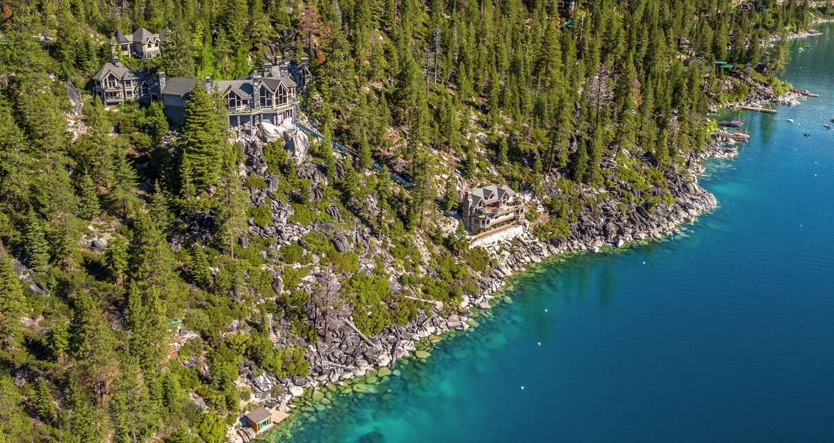 Crystal Point went on the market in 2017 for $75 million. The Lake Tahoe estate has 525 feet of lake frontage and 16,000 square feet of living area in Crystal Bay, Nev.