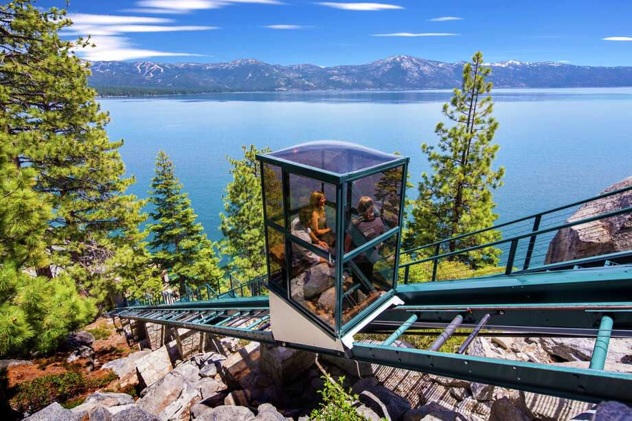 A Lake Tahoe estate with 525 feet of lake frontage and 16,000 square feet of living area in Crystal Bay, Nev., is on the market for $75 million. Chase International is listing the property known as Crystal Pointe. Photo: Jeff Dow Photography