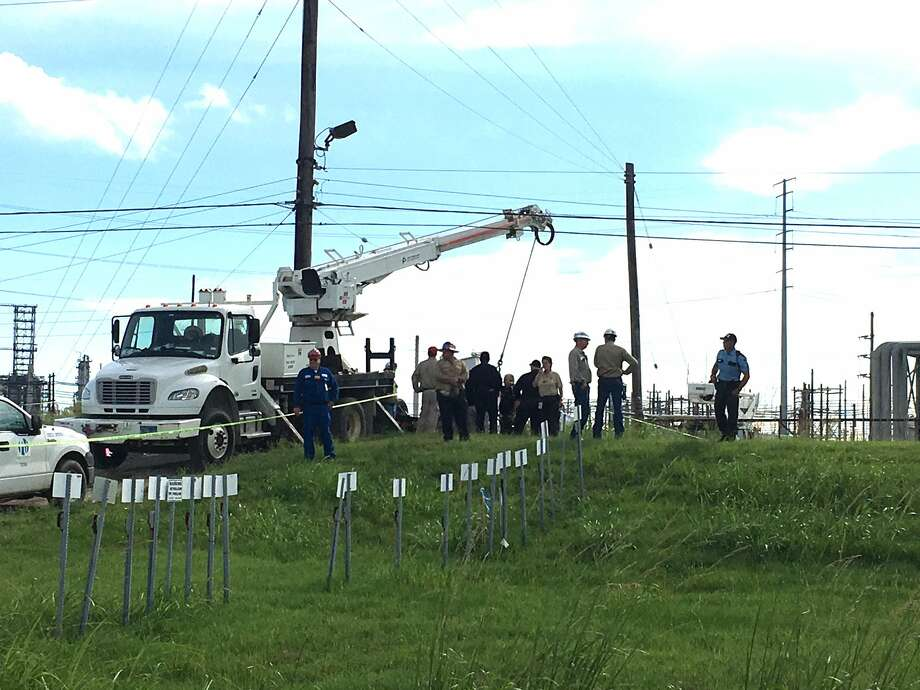 Police respond to an industrial accident on Terminal Road in Port Arthur July 13, 2017.