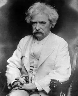 Mark Twain, handsome in white