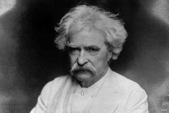 Mark Twain, handsome in white