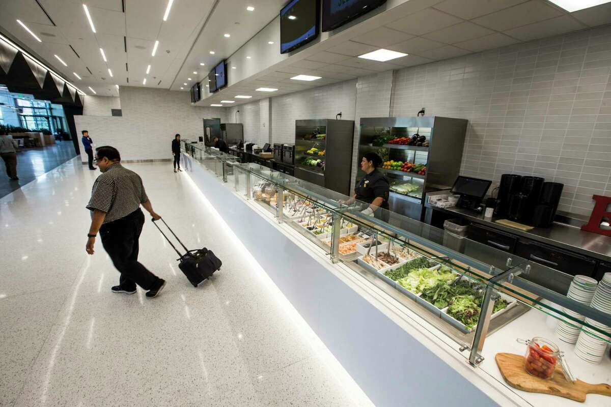 The Discovery Market cafeteria is shown at the new BHP Billiton headquarters office tower in the Galleria area on Tuesday, July 11, 2017, in Houston. ( Brett Coomer / Houston Chronicle )