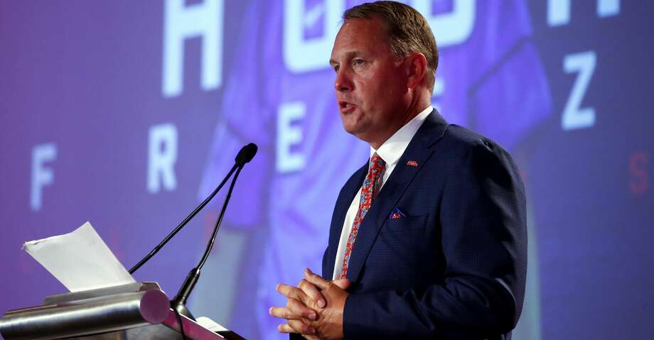 Mississippi NCAA college football coach Hugh Freeze speaks during the Southeastern Conference's annual media gathering, Thursday, July 13, 2017, in Hoover, Ala. (AP Photo/Butch Dill) Photo: Butch Dill/Associated Press