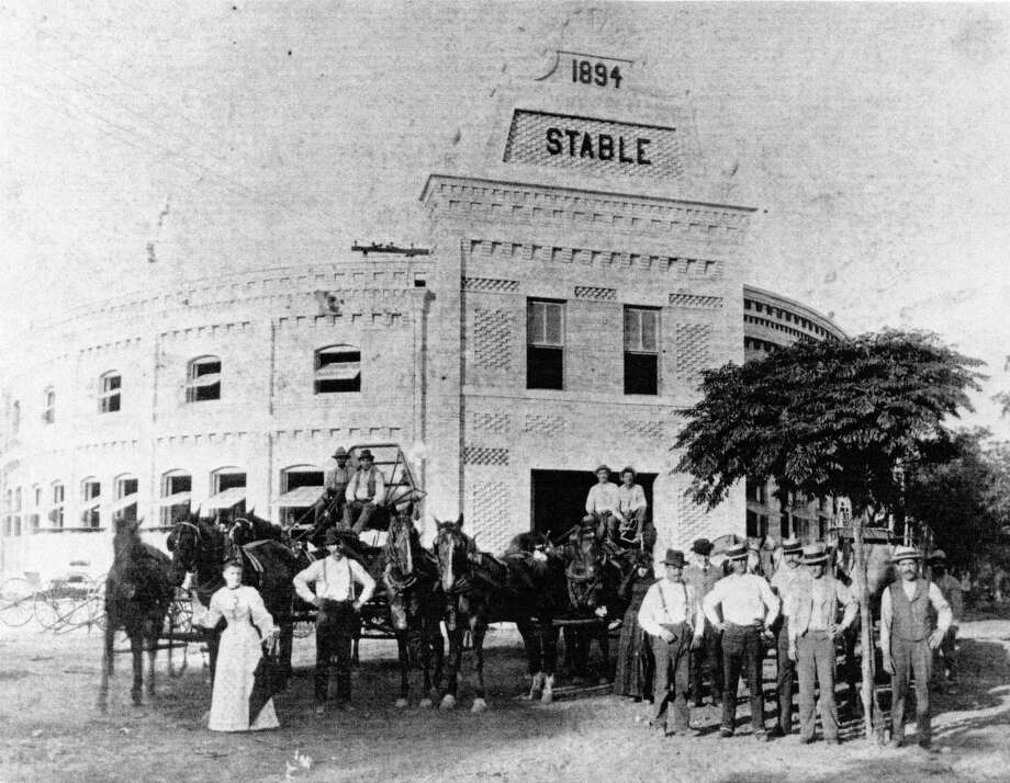 The 1894 stable, elliptical in shape, was home to the draft horses that pulled the beer wagons, as well as the entertainment venues The Pearl Corral and the Jersey Lilly. Photo: Courtesy UTSA Special Collections