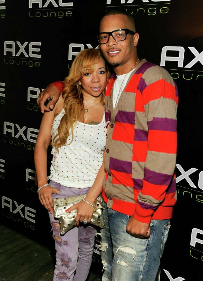 "SOUTHAMPTON, NY - AUGUST 13:  Tameka 'Tiny' Cottle and T.I visited the AXE Lounge in Southampton on Friday to announce that he is performing a secret show to kick off the ""AXE Music One Night Only"" concert series in Manhattan on Monday night on August 13, 2010 in Southampton, New York.  (Photo by Eugene Gologursky/Getty Images for AXE) Photo: Eugene Gologursky / 2010 Getty Images"