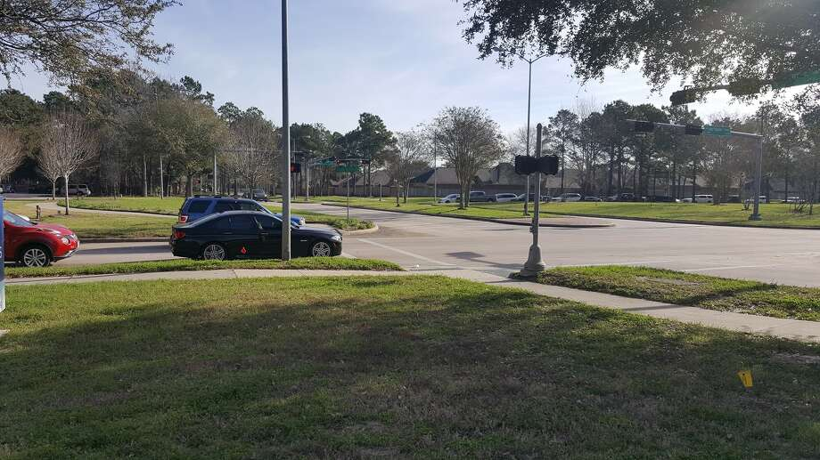 The intersection of West Lake Houston Parkway and Kings Crossing Drive is one of the two Kingwood area intersections that will undergo construction, projected to being in late August. Photo: Melanie Feuk