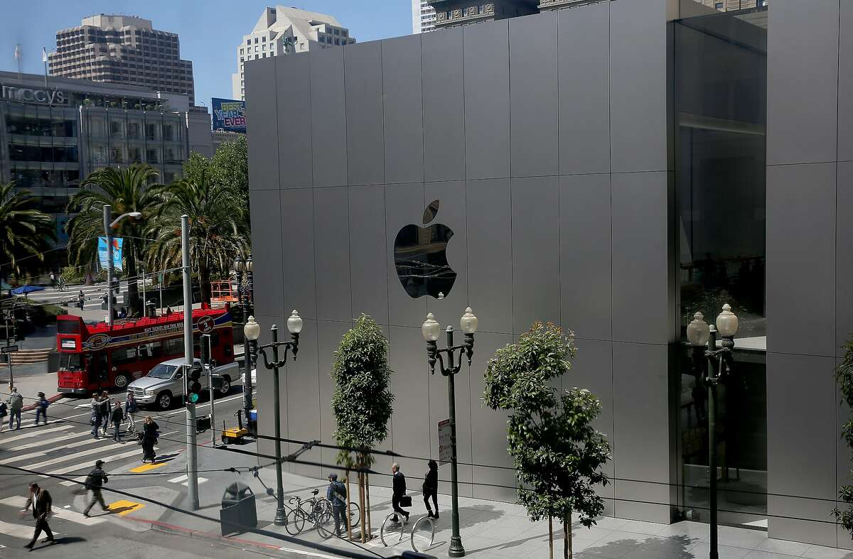 The Apple Store in Union Square in San Francisco.