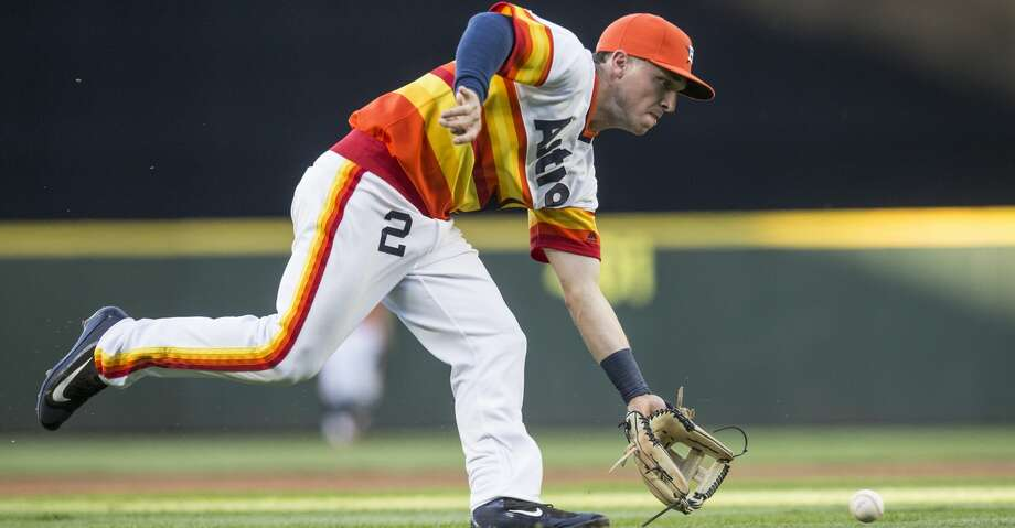 Less than a week after Astros third baseman Alex Bregman deleted his Twitter after direct messaging a fan to berate him, Bregman's account has been reactivated. Photo: Stephen Brashear/Getty Images