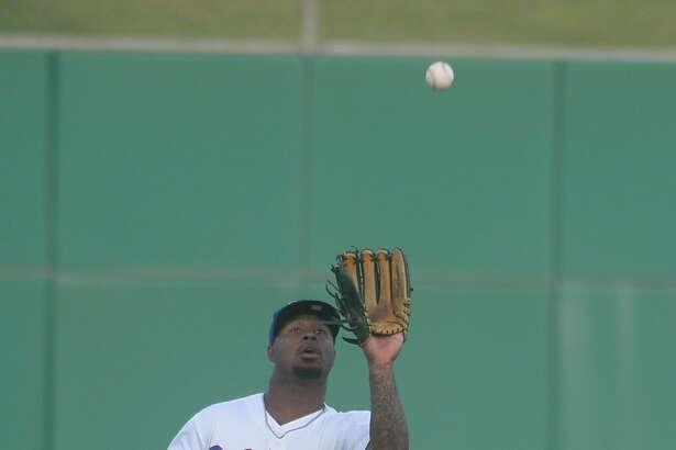RockHounds center fielder B.J. Boyd catches for an out against Corpus Christi on July 3, 2017, at Security Bank Ballpark.  James Durbin/Reporter-Telegram