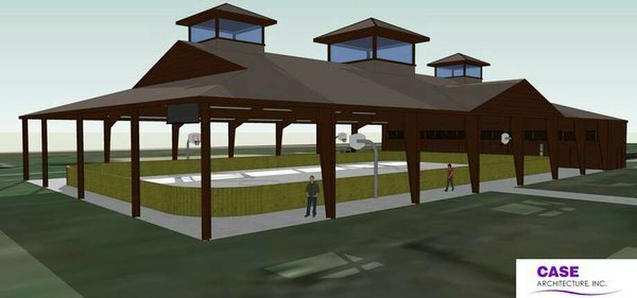 This rendering showsthe pavilion/farmers market that will be built at Auburn City Park.Midland-based Moltus Building Group has been hired as the general contractor for the $728,500project.