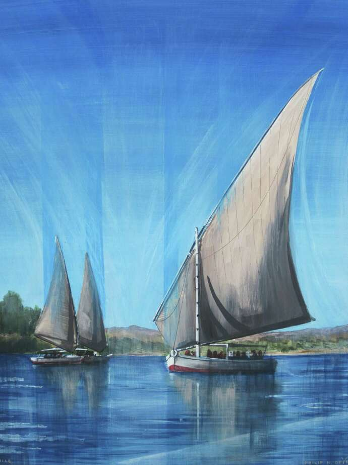 """Minor Memorial Library in Roxbury is presenting an exhibit and sale, """"An Expression of Spirit: Three Generations,"""" through July 22. The exhibit and sale features paintings, drawings and mixed media compositions by Philip de Vries, his father and grandfather. Photo: Courtesy Of Minor Memorial / The News-Times Contributed"""