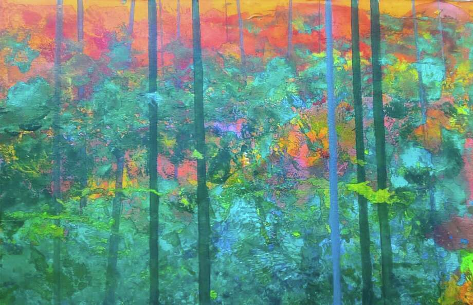 "Gallery 25 in New Milford will hold a grand re-opening reception July 15 from 6 to 9 p.m. at its new location, the railroad station on Railroad Street. Refreshments will be served and many artists will be available to discuss their works. Among them will be Steve Tannenbaum of New Milford, whose acrylic ""Indian Summer"" is shown above. Photo: Contributed Photo / Contributed Photo / The News-Times Contributed"