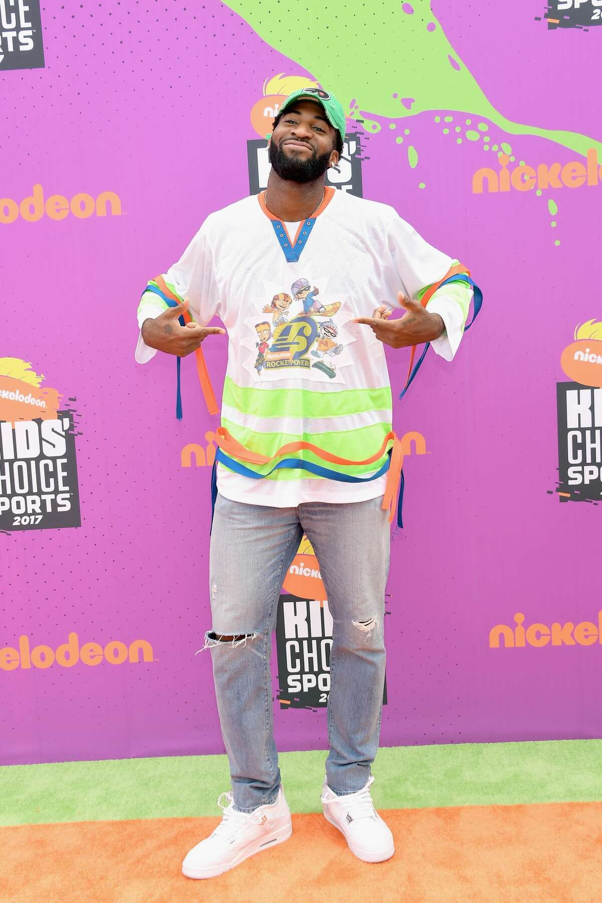 LOS ANGELES, CA - JULY 13: NBA player Andre Drummond attends Nickelodeon Kids' Choice Sports Awards 2017 at Pauley Pavilion on July 13, 2017 in Los Angeles, California. (Photo by Matt Winkelmeyer/Getty Images)
