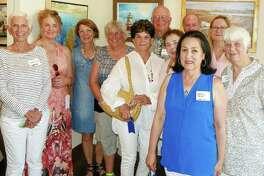 Some of the Marine & Coastal Exhibit winners: Laure Dunne (Norwalk), Kendall Klingbeil (Pound Ridge, N.Y.), Heide Follin (Norwalk), Dana Laird (Rowayton), Judy Katz (Westport) Rick Pank (Rowayton), Antoinette Vardamis (New Canaan), Maria Friscia (Greenwich), Mark Fergusen (Norwalk) Susan Leggitt (Norwalk), and Jo Ann Davidson (Westport).