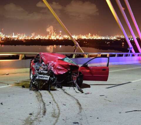 Driver in head-on collision on Fred Hartman Bridge was drunk, say