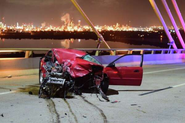 Jose Jesus Jimenez, 33, is accused of causing a car crash while having a .221 BAC at the Fred Hartman Bridge on June 16, 2017.
