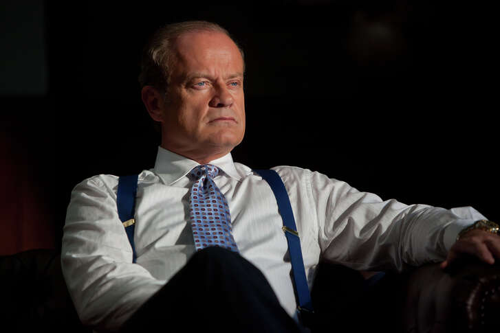 """In this image released by Starz Media, Kelsey Grammer portrays Chicago Mayor Tom Kane on the Starz original series, """"Boss."""" Grammer had a spectacular run as the pompous Dr. Frasier Crane on """"Frasier"""". But Grammer's two decades as a sitcom shrink were merely a prelude to Tom Kane, the fiercely charismatic and flawed mayor of Chicago he plays on the Starz drama, """"Boss."""" (AP Photo/Starz, Chuck Hodes)"""