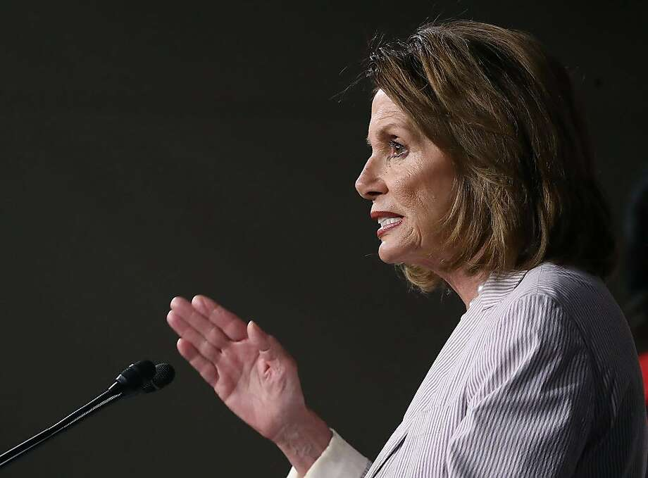 Democratic Leader Nancy Pelosi speaks during a news conference on Capitol Hill, July 14, 2017 in Washington, DC. Pelosi called for the revocation of White House Advisor Jared Kushner's security clearance. Photo: Mark Wilson, Getty Images