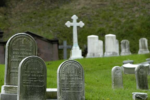 Gravestones are shown at the Green-Wood Cemetery in the Brooklyn borough of New York, Sunday, Sept. 24, 2006. The cemetery, founded in 1838, will host two, two-and-half hour Holloween-themed tours this year on Oct. 28 and Oct. 29. (AP Photo/Benny Snyder)
