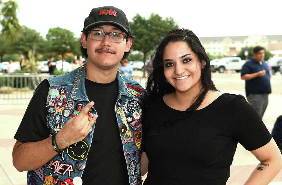 Ricky Carraman and Jackie Guerra at the Laredo Energy Arena for the Journey concert. Photo: Danny Zaragoza