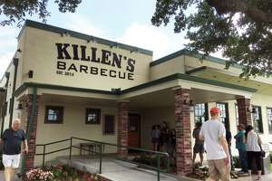 Exterior of Killen's Barbecue in Peralnd, TX June 13, 2017 as the line starts to form at 10:30 AM.
