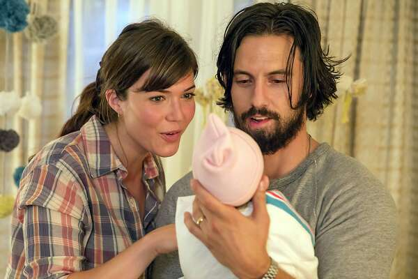 "Mandy Moore as Rebecca and Milo Ventimiglia as Jack in ""This Is Us."" MUST CREDIT: Ron Batzdorff - NBC."