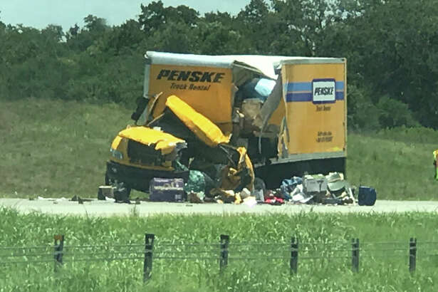 Officials closed the westbound lanes of Interstate 10 Friday afternoon, July 14, 2017, near Luling.